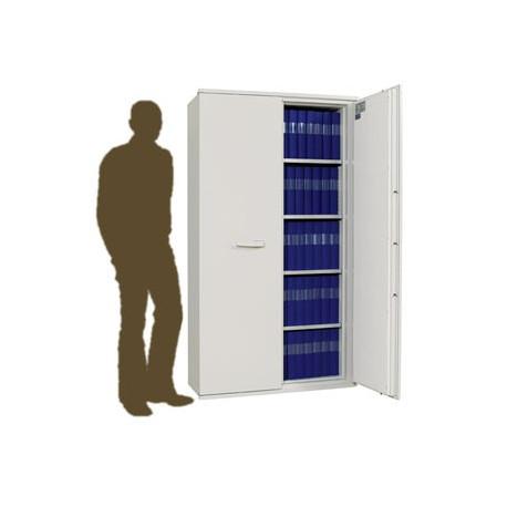 SA 990 Armoire ignifuge papier deux portes avec une grande profondeur intérieure.