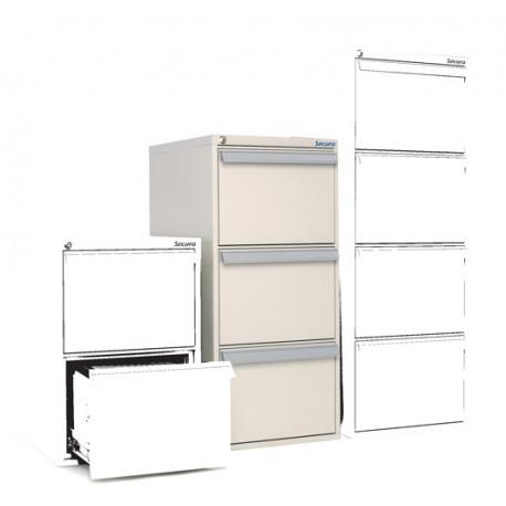 SV 31 classeur vertical ignifuge 3 tiroirs 1 heure.