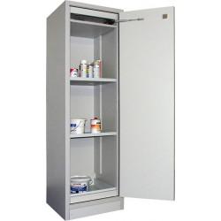 AF 400-30 armoire de sécurité pour liquides inflammables haute avec 1 porte et aménagement intérieur en inox