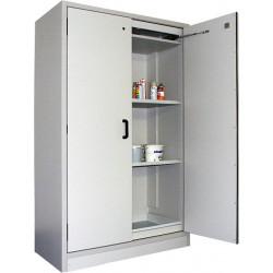 Armoire de sécurité AF 864-30 pour liquides inflammables haute avec 2 portes et aménagement intérieur en inox